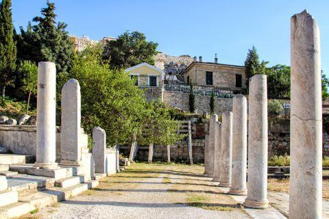 Roman Agora: Ruins inside the Roman Agora