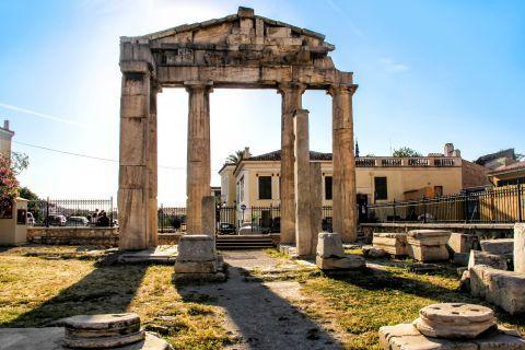 Roman Agora: Ancient ruins inside the Roman Agora