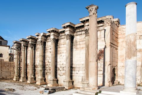 Hadrian Library: The large complex known as the Library of Hadrian was built in the second century AD
