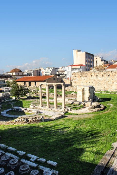 Hadrian Library: The large complex known as the Library of Hadrian in Monastiraki