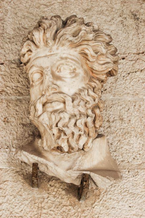Stoa of Attalos: A marble head