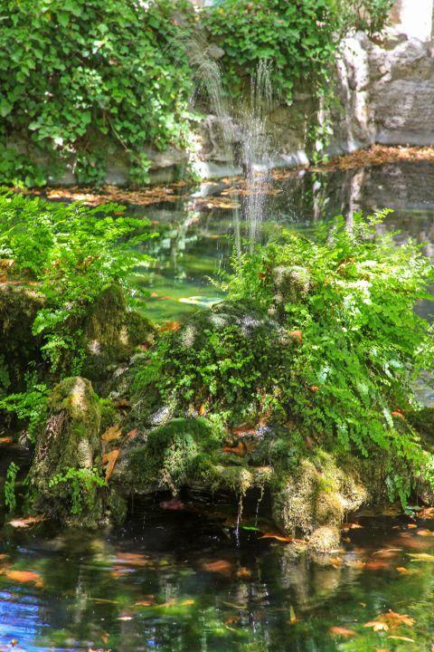 Rodini Park: Small lakes, water streams and vegetation.