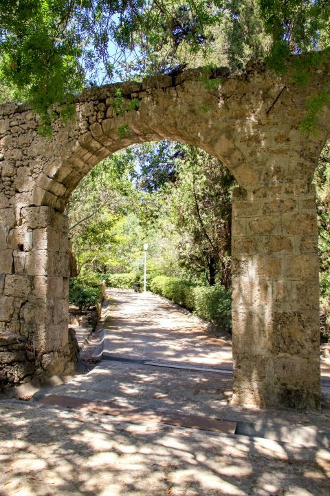 Rodini Park: A stone built arch.