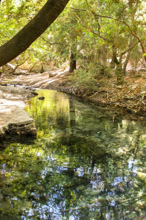 The seven springs is considered to be one of the most romantic sites on the island of Rhodes.