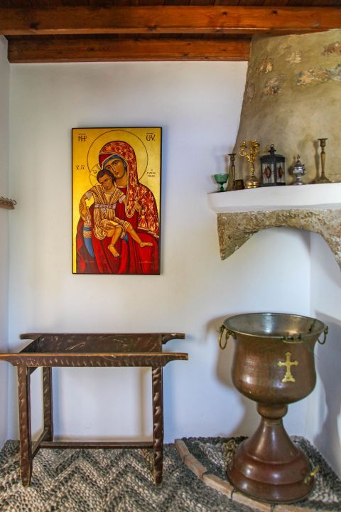 Panagia Tsambika: Holy items of Panagia Tsambika church.