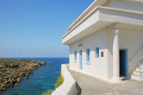 Chrissoskalitissa monastery: The white monastery lies right above the beach of Elafonisi