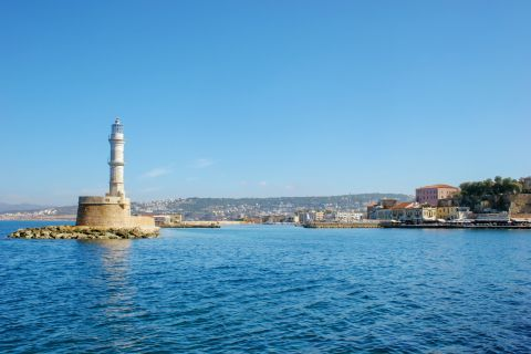Venetian Lighthouse: The lighthouse of Chania is found in the Venetian Harbour