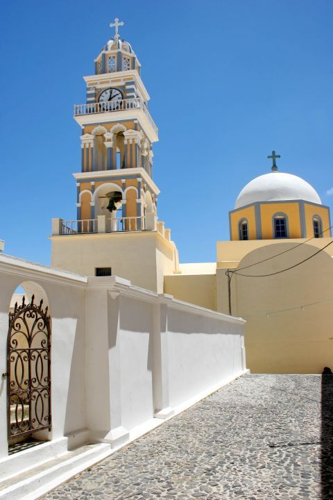 The Catholic Cathedral of Santorini