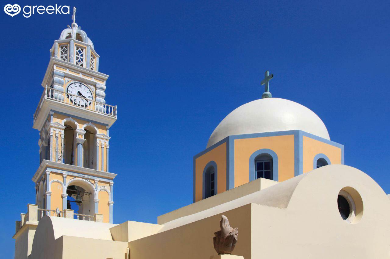 90657a43c Catholic Cathedral in Santorini, Greece - Greeka.com