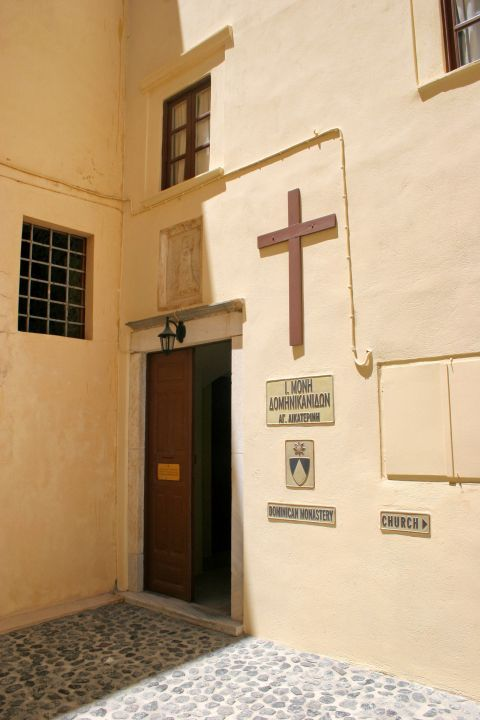 Dominican Convent: The entrance of the Dominican Monastery in Santorini