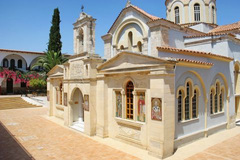 The Monastery of Panagia Kaliviani in Crete was built on the site where a holy icon of Virgin Mary was found