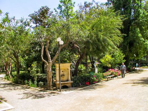 The Public Park of Rethymno hosts a small zoo with species of Cretan animals.
