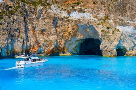 Blue Caves: At the Blue Caves of Zakynthos