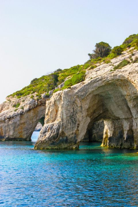 Blue Caves: The blue caves have also interesting arches created by erosion along thousands of years