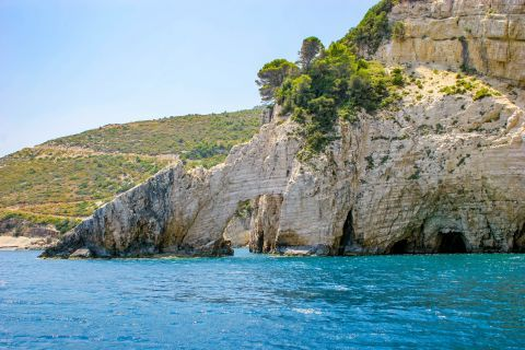 Blue Caves: Impressive natural surroundings.