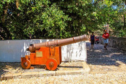 Nerantzia Castle: An old canon.