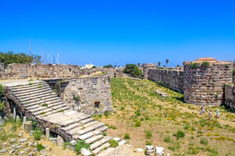 Nerantzia Castle: The castle of the Knights of Saint John on Kos, was constructed with local stone and with the remains of previous constructions and buildings.