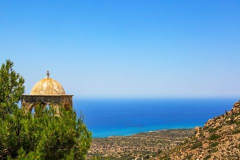Agios Ioannis Monastery: Impressive view from the Monastery of Agios Ioannis.