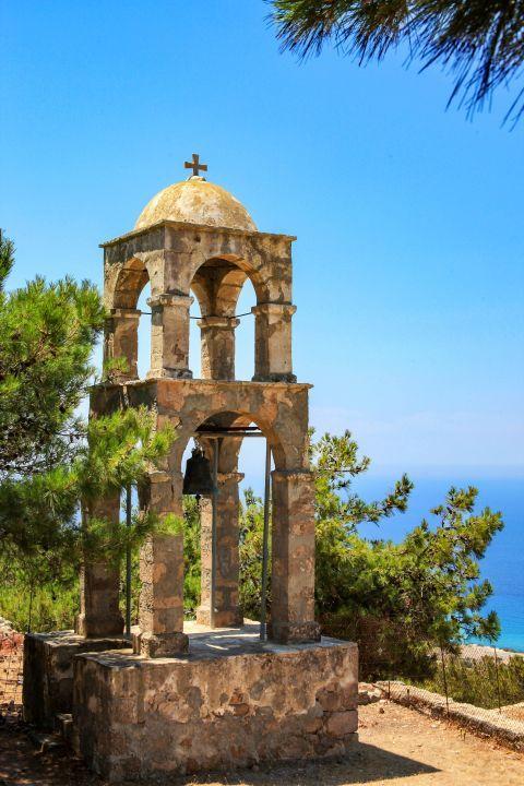Agios Ioannis Monastery: Stone built belfry.