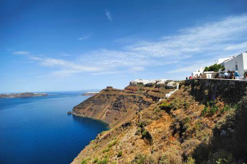 Skaros Rock: Beautiful landscape of Santorini's nature and Skaros Rock