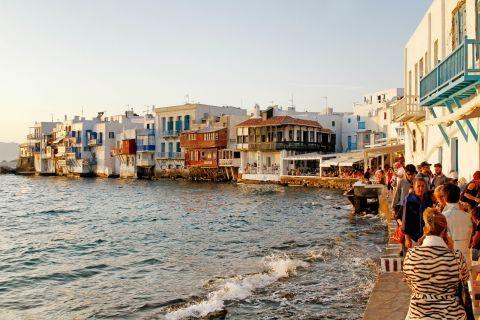 Little Venice in Mykonos, Greece   Greeka