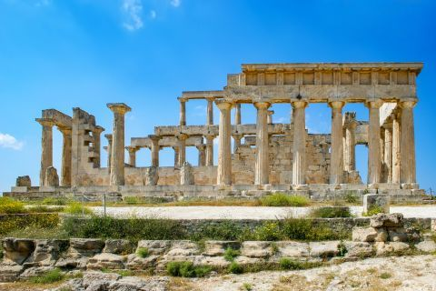 Athena Aphaia Temple: The Temple of Aphaia has been dedicated to goddess Athena
