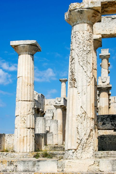 Athena Aphaia Temple: 25 of the original 32 Doric columns still stand because of the restorations.
