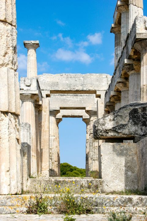 Athena Aphaia Temple: The Temple was built on the ruins of an earlier temple