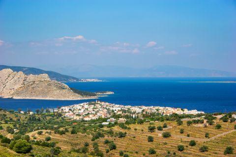 Moni Islet: View of Moni islet from Perdika