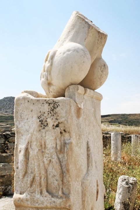 Ancient ruins of Delos island