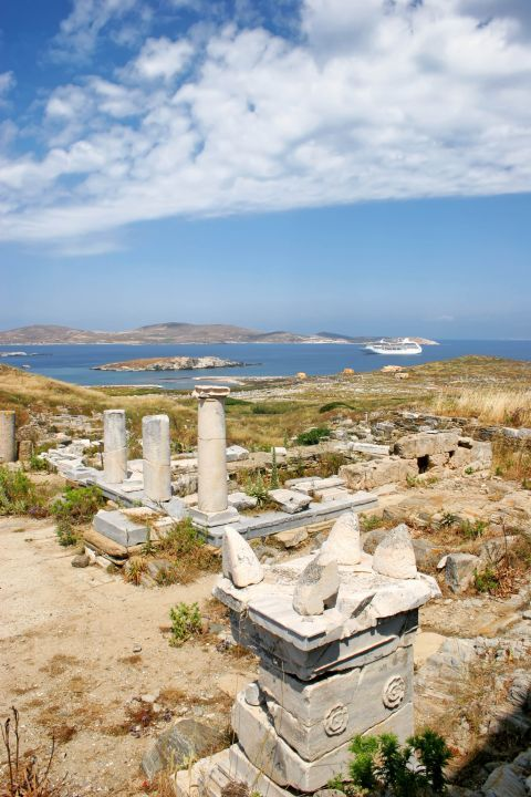 Archaeological ruins in Delos