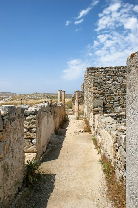 The ancient ruins of Delos