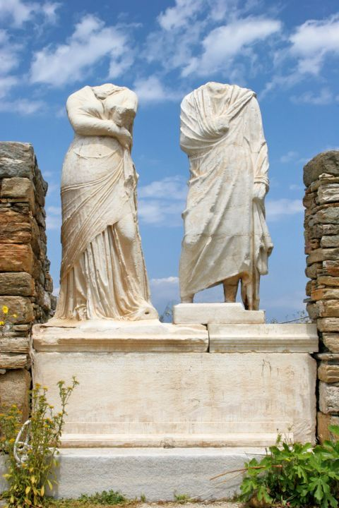 Ancient statues in Delos