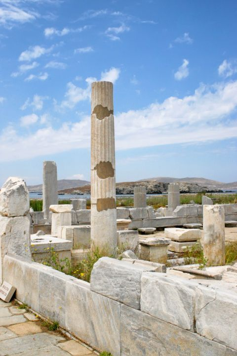 Ruins of a white temple in Delos