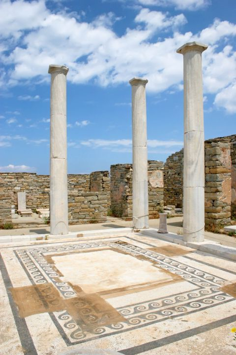 Columns of an Ancient temple in Delos
