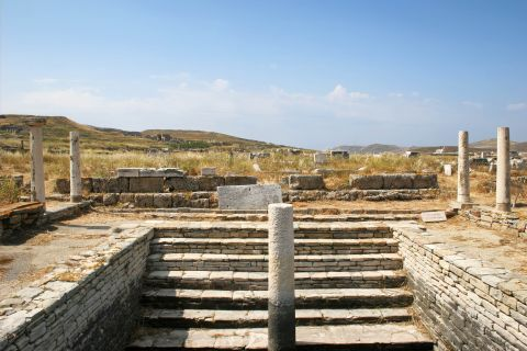 The remains of the Ancient settlement of Delos