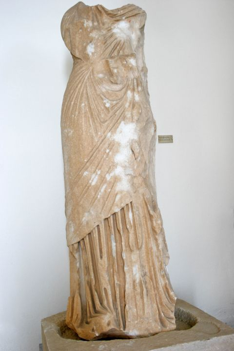 Archaeological Museum: Marble statue of a woman body