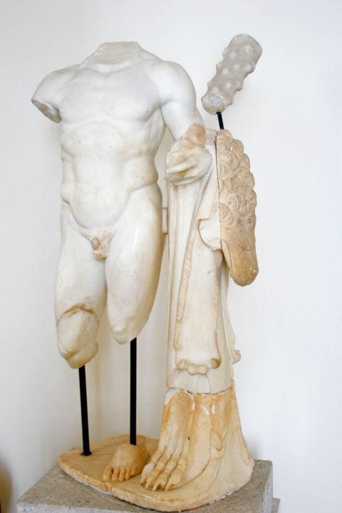 Archaeological Museum: The remnants of a marble statue