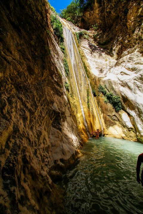 Waterfalls of Nydri: During the summer season, when the temperature gets really hot, tourists come to the Dimosari Waterfalls to relieve themselves from the sweltering heat.