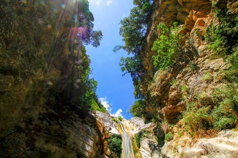 Waterfalls of Nydri: It is a gorgeous waterfall that has its source up in Lefkada mountains and ends into a gorge with white rocks.