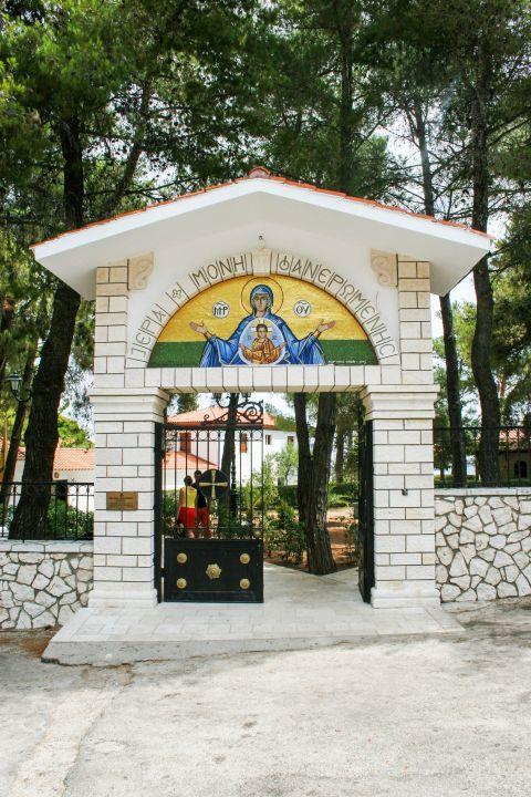 Monastery of Faneromeni: Entering the premises of the Monastery.