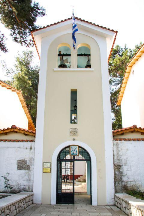 Monastery of Faneromeni: Well preserved, impressive belfry.