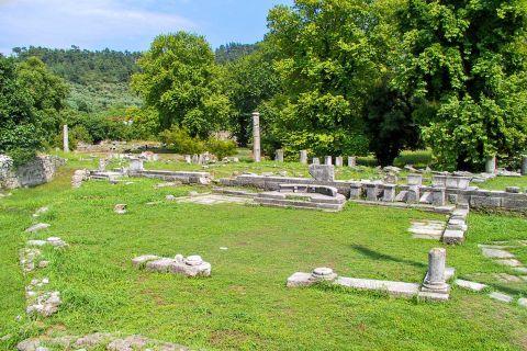Ancient Agora: Agora was actually a rectangular space surrounded by columns.