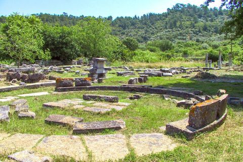 Ancient Agora: Ancient Agora includes the remains of the ancient town of Thassos.