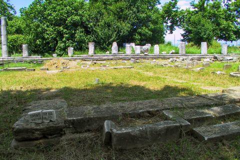 Ancient Agora: Sanctuary of Zeus. Ancient Agora, Thassos.