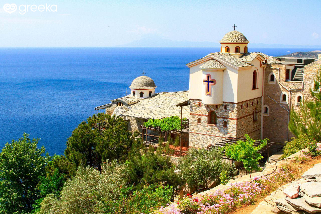 Monastery Of Archangel Michael In Thassos Greece Greekacom