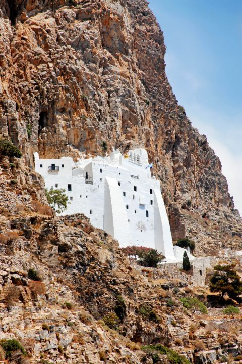 Hozoviotissa Monastery: The Monastery of Hozoviotissa is built on the slopes of a rock