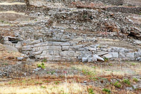 Minoan Site: A stone-built ruined building
