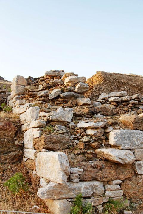 Minoan Site: A stone-built wall