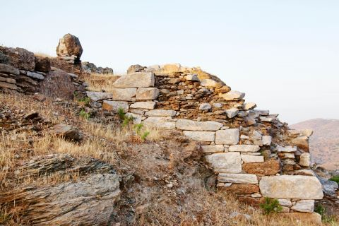 Minoan Site: Some stone-built ruins